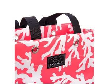 Coral  Scout Tote Bag, monogrammed FREE - Preppy gift, Reef Witherspoon