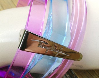 Thierry Mugler Signed Lucite 80s  Bangles