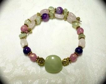 Fancy Gemstone Memory Wire Bracelet  Fashion Bracelet for Every Day Wear boho modern hipster high fashion