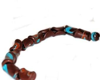 Polymer Clay Beads - Handmade - Chocolate Tacos - DIY - Liquidation Sale