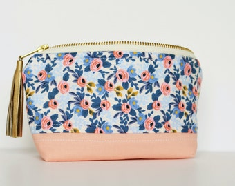 Essential Oil Bag made with Rifle Paper Co. Fabric (essential oil case, rifle paper co essential oil bag, rifle paper co essential oil case)