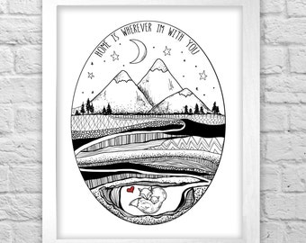 Home is wherever I'm with you FOXHOLE original illustration