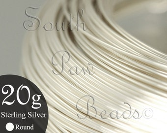 1/2 troy oz Round Sterling Silver Wire 20 gauge, approximately 9.5 feet, you pick the temper