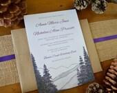 Purple Haze Mountain Pine Wedding Invitations