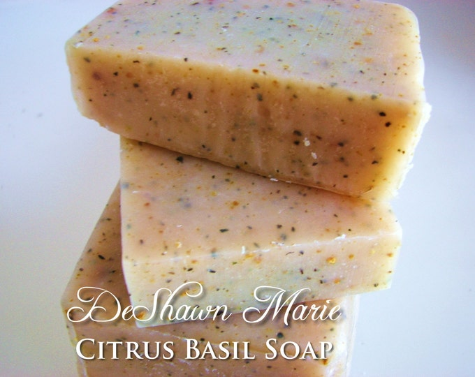 SOAP- Citrus Basil Soap, Organic Soap,  Cold Process Soap, Handmade Soap