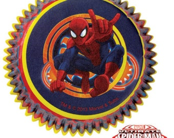 Wilton Muffin Cupcake Liners Baking Cups - Spiderman Baking Supplies