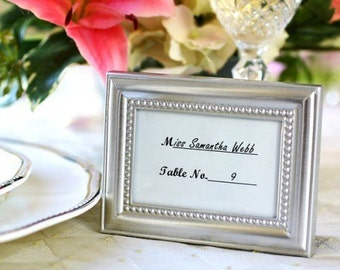 48 Beautifully Beaded Silver Photo Frames Place Card Holders Craft Supply