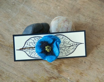 Poppy Hair Clip Bobby Pin Blue