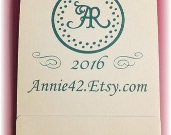 2016 Colored Calendar, Notepad Calendar, Mini Notepads, Wedding Matchbook Notepads, Personalized Handmade Calendars, Stocking Stuffer Gift