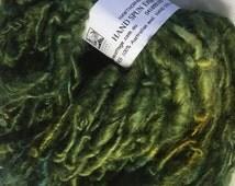 Grass Green English Leicester  Handspun Chunky Yarn