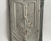 Antique Tin Ceiling Roof Tile 9.5 x 14 Silver Metal Distressed 2687-16i