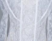 Vintage Dress  - Amazing White Lace Bride Bridesmaid Party Lace