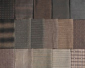 Japanese Taupe fabrics - 16 dark brown fat eighths