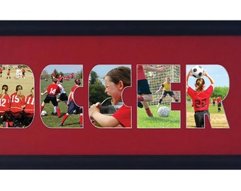 Soccer photo collage (mat only)