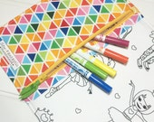 NEW - Color me wallet with washable markers - Color, wash, repeat  - Rainbow remix