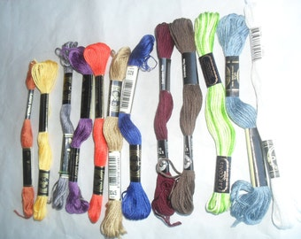 Embroidery floss threads Variety 12 skeins