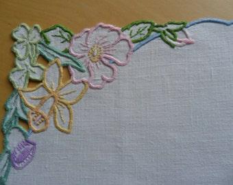 Vintage Linen Tray Cloth