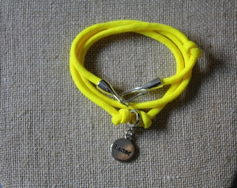 Charm Bracelet Neon Yellow Blessed
