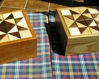 Keepsake Box, Quilt Top Treasure Box