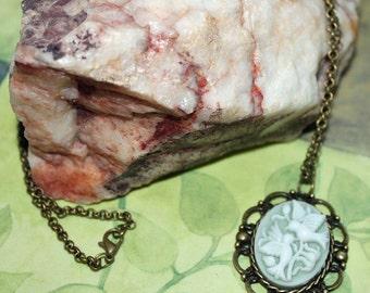 Lovebirds Cameo Pendant Necklace
