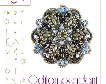 Beading tutorial – Odilon pendant – PDF instruction for personal use only