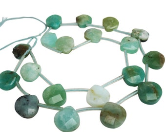 Peruvian Blue Opal Beads Briolettes, Faceted Briolettes, SKU 3783