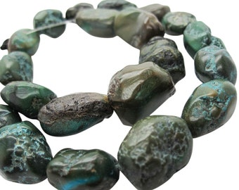 Turquoise Nugget, Turquoise Beads, Blue Turquoise, December Birthstone, SKU 5153A