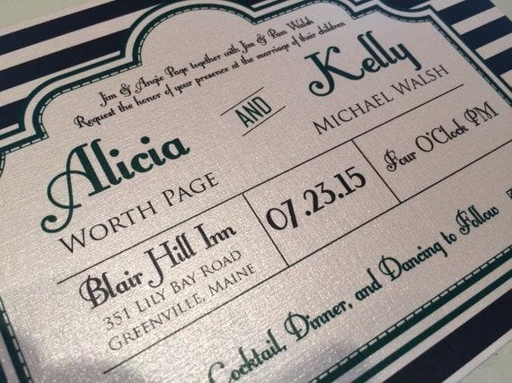 Gatsby Wedding Invites: Great Gatsby Style Wedding Invitation. Retro Wedding