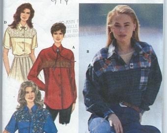 Simplicity 9207 Misses' Shirt - Size 12-14-16 - Uncut Vintage Pattern