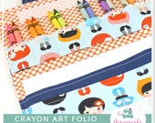 Crayon Holder PDF DIY Sewing Pattern and Bonus Mini Crayon Holder