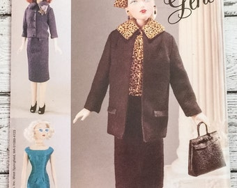 """Vogue Craft 704 7223 Gene Doll Clothes 15-1/2"""" Sewing Pattern UNCUT"""