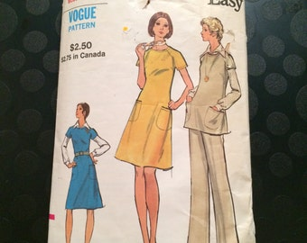 Vogue Easy Sewing Pattern 8354- Womens Dress, jumper, tunic, pants, blouse sz 14 Bust 36