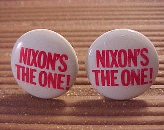 Nixon Cuff Links Political Campaign Button
