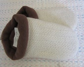 Soft White Sweater Slippers - Lades Large 9-10