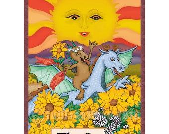 The Sun Cryptozoology Tarot Card Print