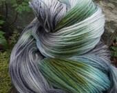 Handpainted sock yarn, fingerling yarn, Superwash Merino Wool and Nylon ,100 grams-Rivendell