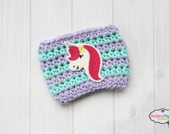 Unicorn Coffee Cup cozy { Pink Hair Unicorn } Coffee cozie, cup sleeve, summer, mug sweater, planner, coffee mug, glitter unicorn