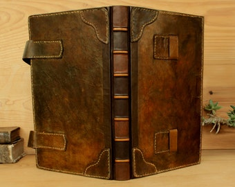 Very Large Journal, Artist Sketchbook, Brown Vintage Leather - Time Capsule