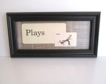 Vintage Framed Flash Cards Plays Black Frame Home Decor Boys Bedroom Decor