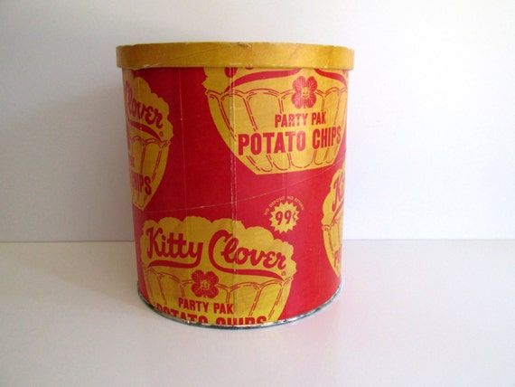 Kitty Clover Potato Chip Container Vintage Advertisement