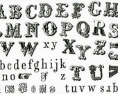 MOUNTED Rubber Stamp Set Z110 - Alphabets