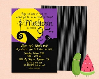 Inspired Nightmare before Christmas party invitaiton | Nightmare Before Christmas birthday | Halloween | Invitation | Kid | Costume | Party