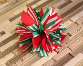 Spike Hair Bow Christmas, Uniform, Cheer, School Spirit