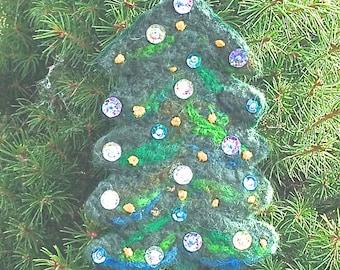 Holiday Decoration; Needle Felted Christmas Tree