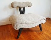 Grosfeld House chair,slipper chair, Hollywood Regency chair,Midcentury Modern Chair,mcm chair,side chair,lounge chair, retro chair