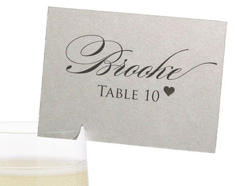 Colorado Place Cards - State Silhouette seating cards - with optional custom location heart cutout