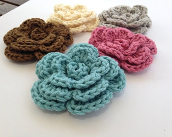 5 piece cotton blend flower set June Bloom Sale