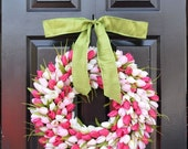 WREATH SALE Mother's Day Gift- Mother's Day Wreath- Gift for Her- Mother's Day Bouquet- Mothers Day Flowers- Silk Spring Wreath- Spring Deco