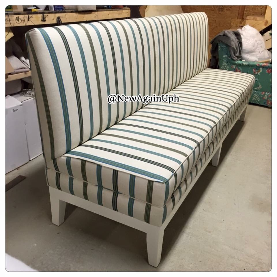 Upholstered Dining Banquette Bench: Kitchen Bench Upholstered Kitchen Bench Custom Bench