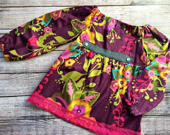 SALE! READY to SHIP! Libby Peasant Top, size 8